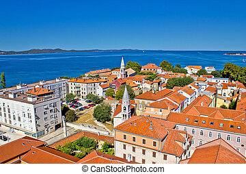 Colorful city of Zadar rooftops & towers, Dalmatia, Croatia