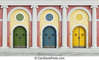 Colorful classic facade