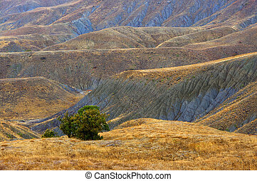 Colorful clay hills