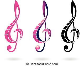 Colorful Clef Sign Illustration - Vector Illustration of a...