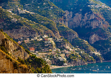 Cliffside Homes on The Amalfi Coast - Colorful Cliffside...