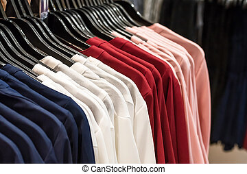 Colorful cloth hanger.