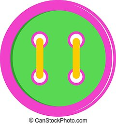 Colorful clothing button icon isolated