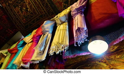 Colorful cloths in Afghanistan - A low angle shot of...