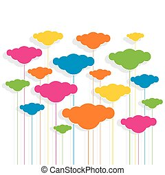 colorful cloud design pattern