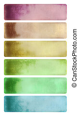 Colorful cloudy watercolor banner set - Colorful cloudy...