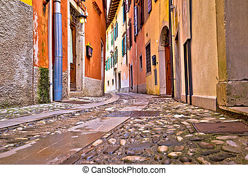 Colorful cobbled street of Cividale del Friuli, ancient town...