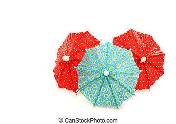 colorful cocktail umbrella's
