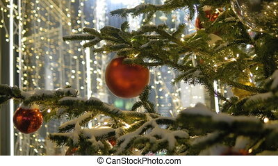 Colorful collection of Christmas Balls useful as a background pattern,