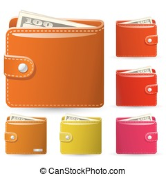 leather wallets - Colorful collection of leather wallets....