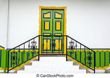 Colorful Colonial Door