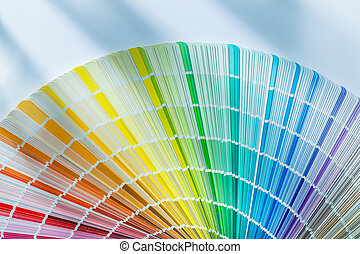 Colorful color palette on white background