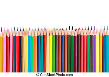 Colorful color pencil arranged - Mixed arranged of colours...