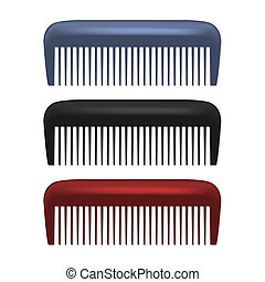 Colorful Combs isolated on white background