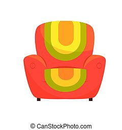 Colorful comfortable armchair vector Illustration