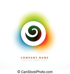colorful company business abstract logo design