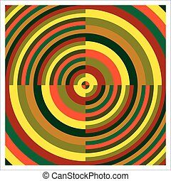 Colorful concentric circles - colorized target with...