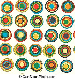 Colorful concentric circles seamless background