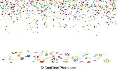 Colorful Confetti - Alpha Channel Included