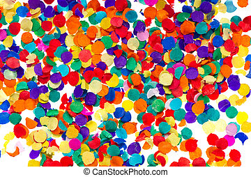 colorful confetti background. red, blue, green, yellow