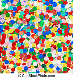 confetti background. red, blue, green, yellow