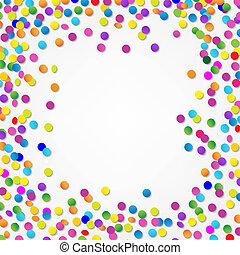 Colorful Confetti Border, With Gradient Mesh, Vector...