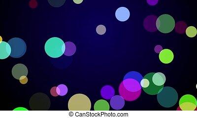 Colorful confetti falling on a dark blue background