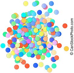 Colorful Confetti on white background. Vector
