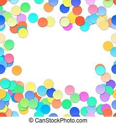 Colorful Confetti on white background. Vector