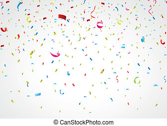 colorful confetti on white - Vector Illustration of colorful...