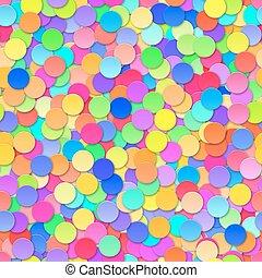 Colorful Confetti Seamless Background. Vector