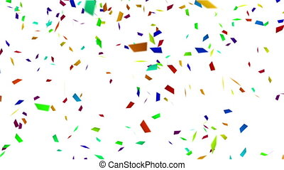 colorful confetti with luma matte loopable background -...