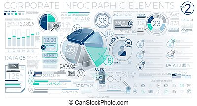 Colorful Corporate Infographic Elements - Infographic...