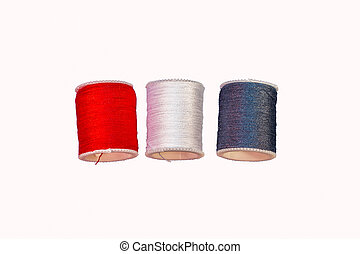 Colorful Cotton Reel Spools of Sewing Thread
