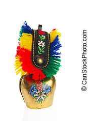 Colorful cow bell - Cow bell souvenir from Switzerland...