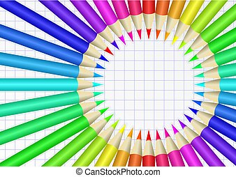 crayons - colorful crayons on checkered sheet