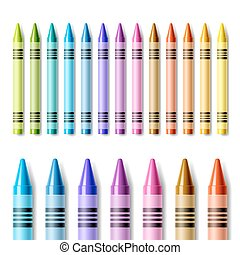 Colorful crayons - Vector illustration of colorful crayons