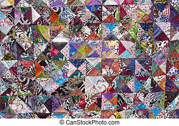 Colorful crazy quilt for sale, Island Bali, Indonesia - ...