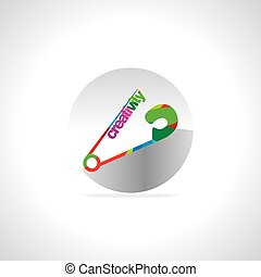 creativity concept safety pin