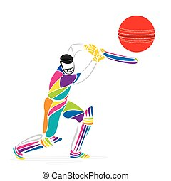 colorful cricket player banner - creative cricket banner...
