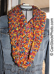 Colorful Crochet Cowl Scarf