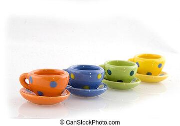 colorful crockery