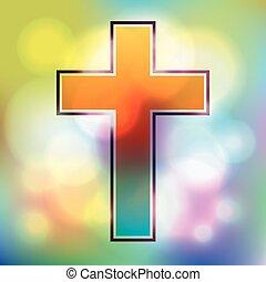 Colorful Cross Illustration