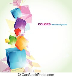 colorful cube abstract design