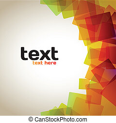Colorful Cube Background - Colorful background with copy...