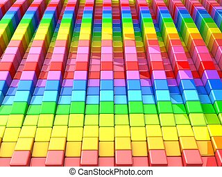 Colorful cube pattern background