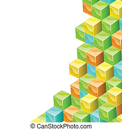 Colorful cubes 3D vector background