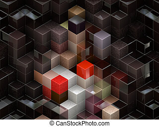 Colorful cubes - Colorful 3d cubes, boxes abstract design ...