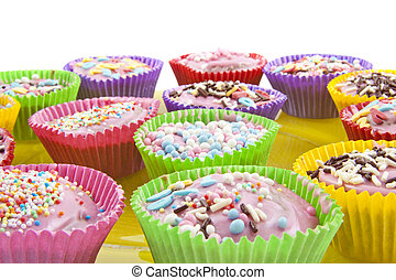 Colorful cup cakes