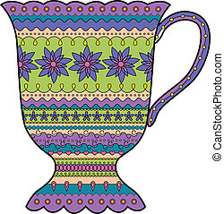 Colorful cup - vector illustration of colorful cup